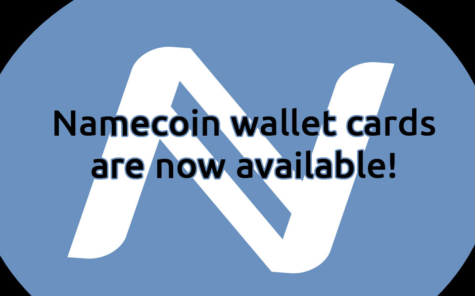 Namecoin Wallet Cards