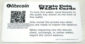 Litecoin Wallet Card Back