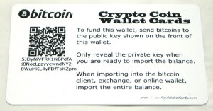 Bitcoin Wallet Card Back