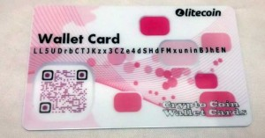 pink litecoin paper wallet