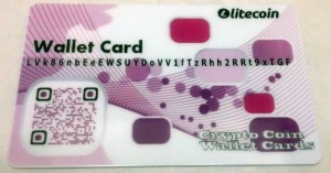 purple pink litecoin paper wallet