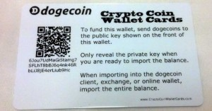 doge paper wallet card back