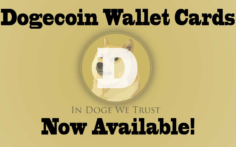 Dogecoin Wallet Cards
