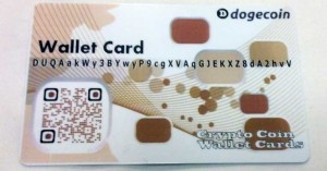 tan doge paper wallet card